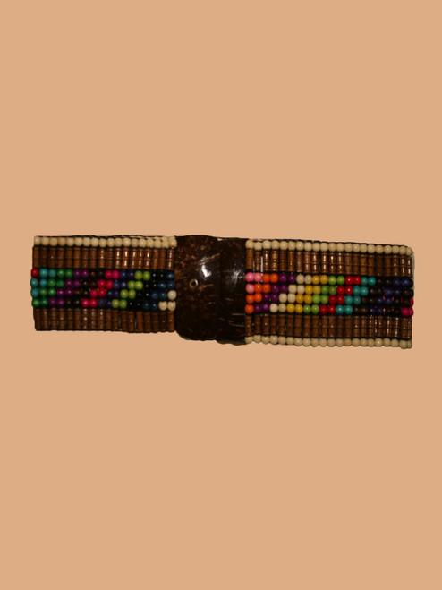 Rectangle Coconut & Brown Belt