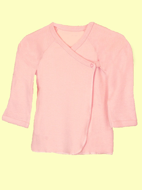 Baby Girl Long Sleeve Undershirt  -Organic Cotton