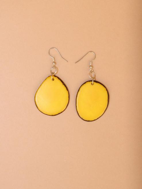 Piña Slice Tagua Dangle Earrings