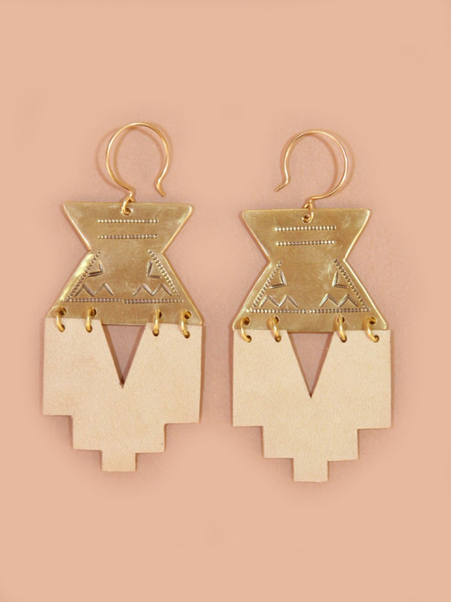 Lantern Earrings - Recycled Materials
