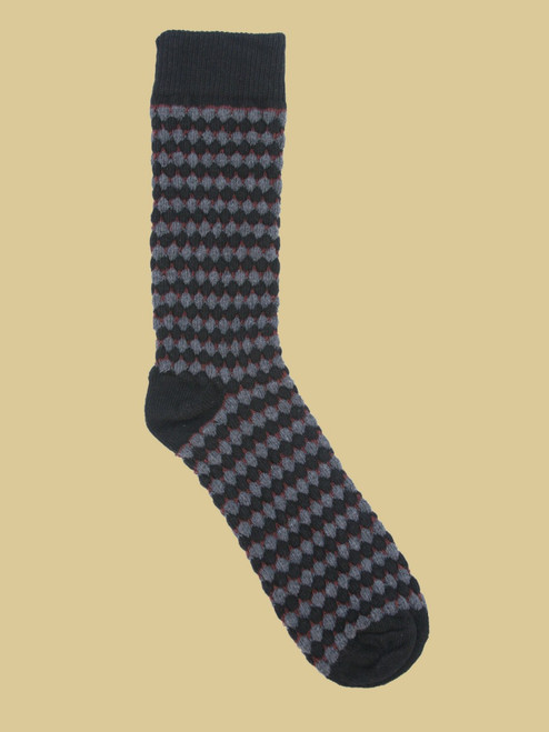 Townsend Black - Paired Crew Socks - Recycled Fibers