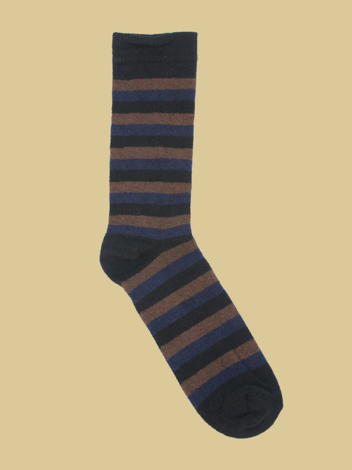 Apollo Striped - Paired Crew Socks - Recycled Fibers