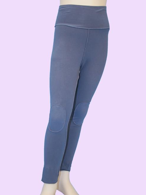 Kneepad Legging With Fold-Over Waist - Organic Jersey