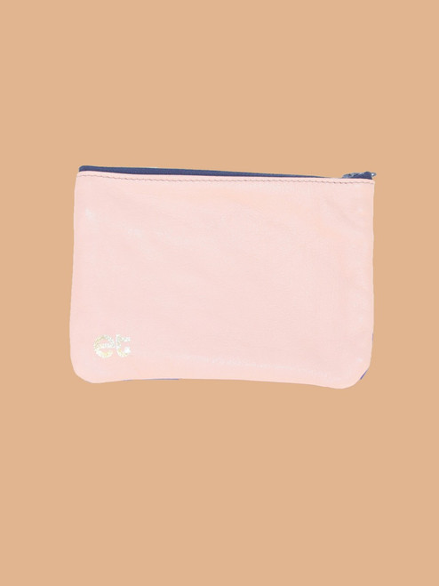 Pink/Violet Change Purse - Recycled Leather