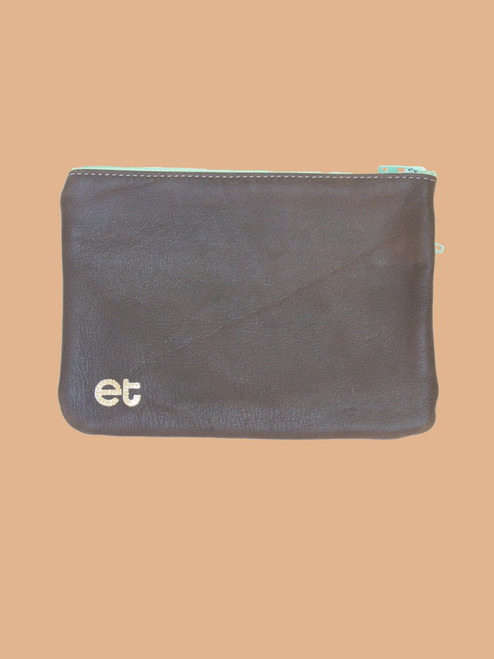 Brown/Black Change Purse - Recycled Leather