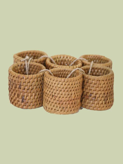 Atta Grass Napkin Rings .  Set of 6 - Fair Trade