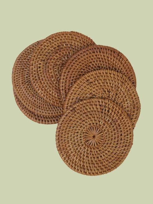 Atta Grass Coasters . Set of 6 - Fair Trade