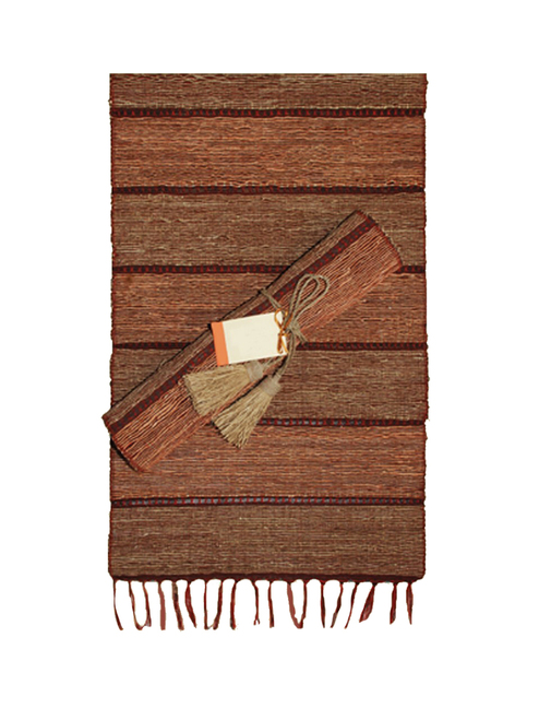 Brick Stripe Vetiver Table Runner - Fair Trade