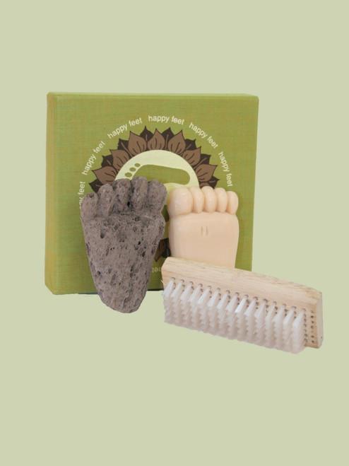 Happy Feet Pumice, Brush & Soap Boxed Set - Fair Trade