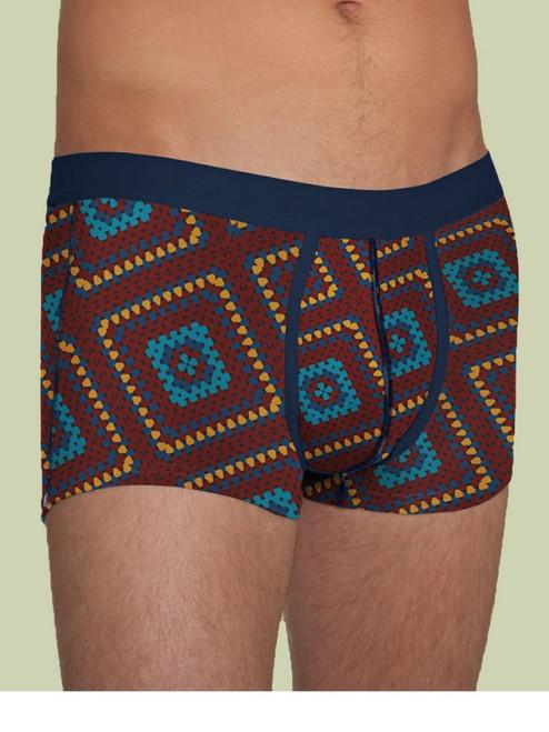 Men's Trunk Crochet Blanket Print - Organic Cotton
