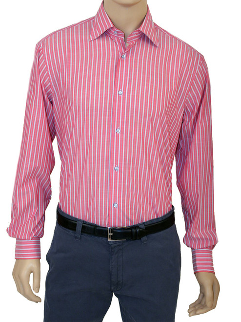 Chambray Stripe Long Sleeve Colton Shirt