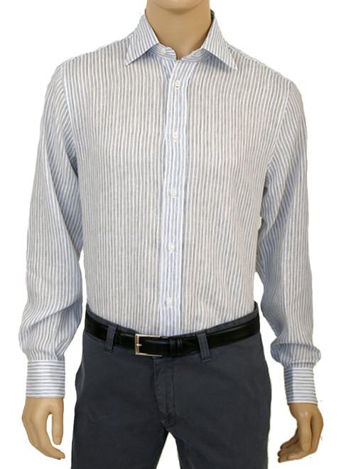 Nautical Linen Stripe Print L/S Bert Shirt