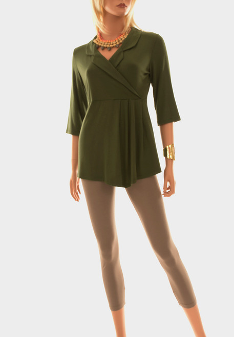 Women's Plus Size Theorem Tunic - Certified Organic Bamboo jersey knit blended