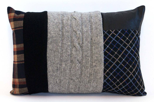 Chic Style Pillow - Recycled Vintage Fabrics