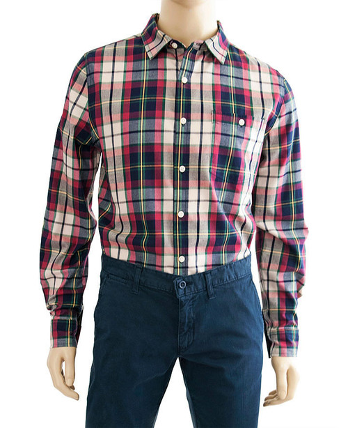 Plaid Herringbone Shirt - Organic Cotton