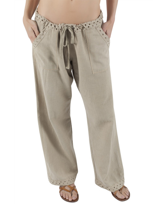 Organic Cotton Linen Mandy Drawstring Pant