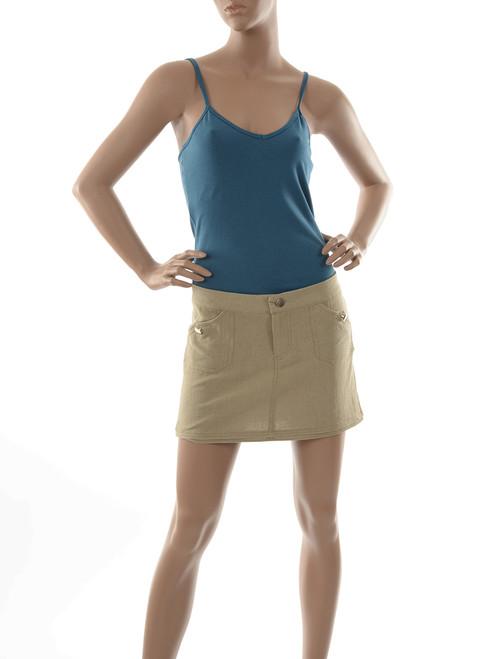 Organic Linen Jeanie Mini Skirt