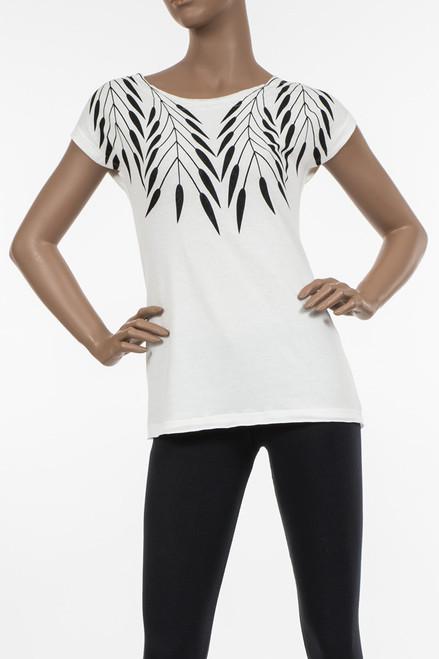 Neary Tee, Picaya Print - Repurposed Jersey