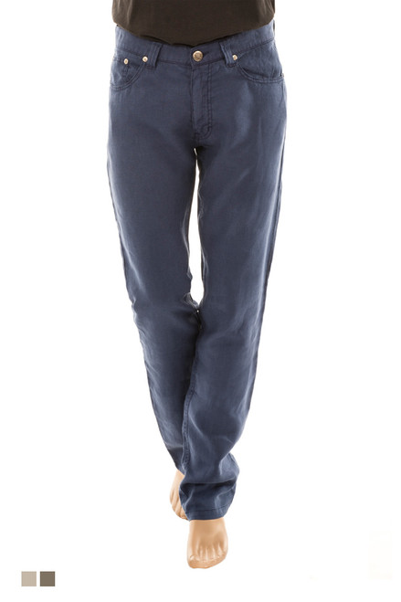 Men's 100% Linen 5 Pocket Pant