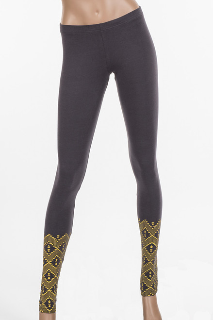 Maya Print Neary Legging - Upcycled Jersey