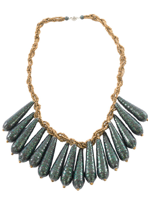 Starlet Emerald Glow Necklace - Eco Beads