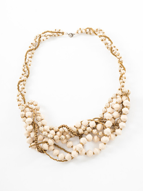 Woven Royale Necklace - Eco Beads