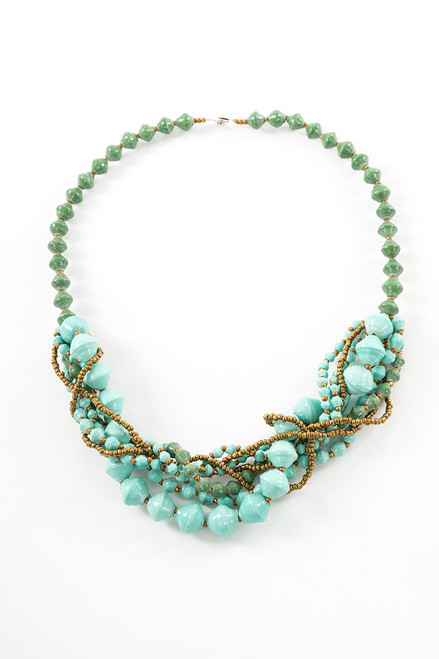 Turquoise Arroyo Bundle Necklace - Eco Beads