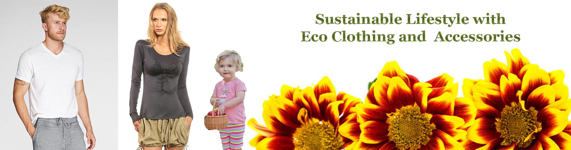 Eco Clothing for Men, Women and Children - Casual, Fitness, or Special Occasions