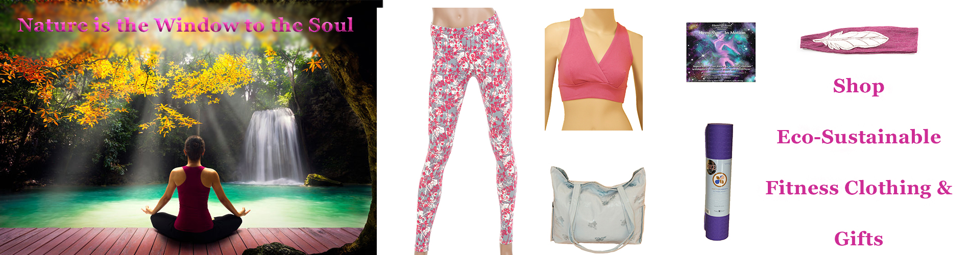 Shop Eco-Sustainable Fitness Clothing & Gifts