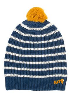 Boy's Organic Cotton Pom Pom Hat