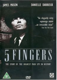 5 Fingers Classic Spy Thriller James Mason DVD