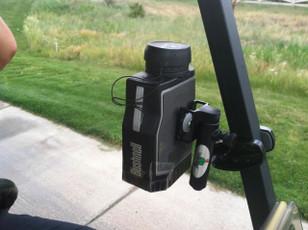 Bushnell Pinseeker Pro 1600 Mount to Golf Cart