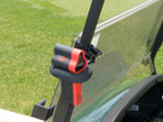 Laser Link Redhot Mounted to Golf Cart Drivers side.