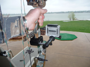 Camera mount for GoPro on bow. Mathews bow mount for camera