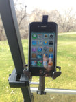iPhone 6 Golf Cart Mount. Works on push cart too.