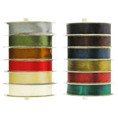 Satin Ribbon with Gold Edge (24 Pc)