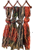 Assorted Scarves with Fringe (24 Pc)