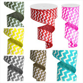 #40 Wired Chevron Ribbon (15 Pc)