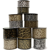 Assorted Animal Print Ribbon (12 Pc)