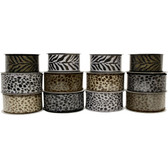 #9 Animal Print Ribbon (12 Pc)