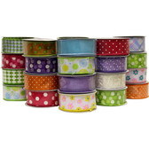 #9 Assorted Everyday Wired Ribbon (24 Pc)