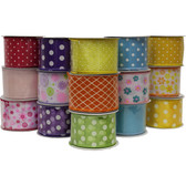 #40 Assorted Everyday Wired Ribbon (24 Pc)