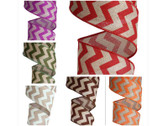 #40 Chevron Printed Wired Ribbon (12 Pc)