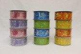 #9 Sheer Butterfly Ribbon with Tiny Dots (12 Pc)