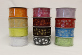 #9 Chiffon Ribbon with Glitzy Small Dots (12 pc)