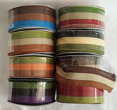 "#9 (1 ½"") Faux Burlap Wired Ribbon (16 Pc)"