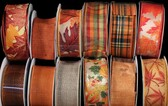 #9 Fall Wired Ribbon (12 Pc)