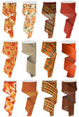 #40 Fall Wired Ribbon (12 Pc)