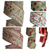 Holiday Wired Ribbon (12 Pc)