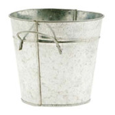 Galvanized Pots with Side Handles (24 Pc)